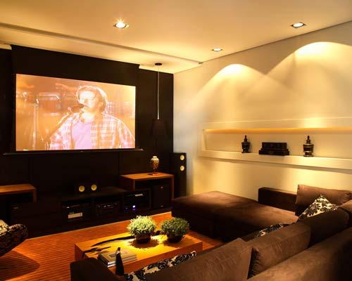 Projetos de salas de home theater