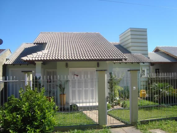 Decoração e Projetos – Fachadas de casas com telhado colonial