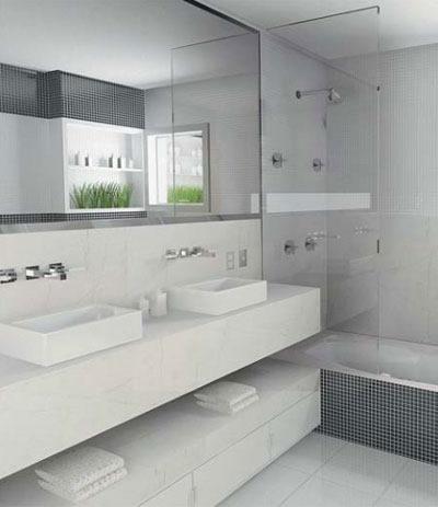 Projetos de banheiros modernos decorados for Armario lavabo barato