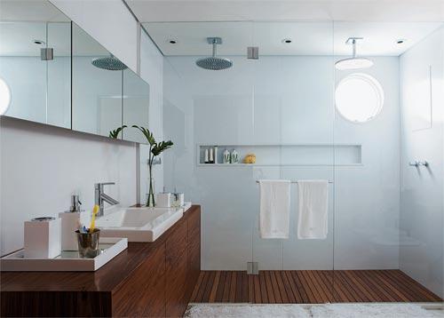 Decoração e Projetos DECORAÇÃO DE BANHEIROS COM MADEIRA -> Fotos De Banheiro Social Simples