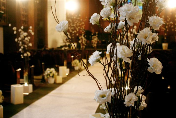decorar um casamento: Projetos – Fotos de decoração de igreja para casamento