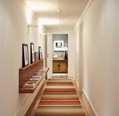 Decora o e projetos decora o de corredores internos com - Alfombras para entrada de casa ...