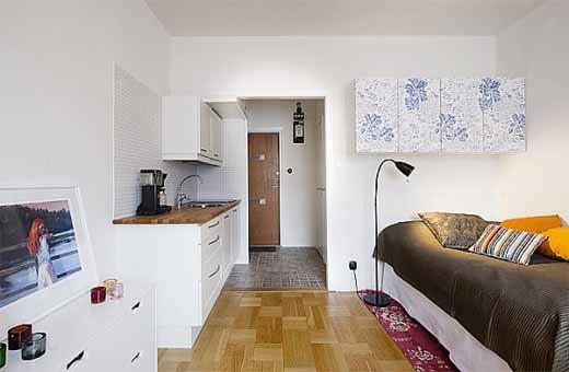 Decora o e projetos decora o de kitnet pequenas com fotos for Ideas para decorar ambientes pequenos