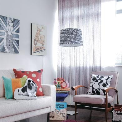 Decora o e projetos decora o de salas retr - Casas decoradas estilo vintage ...