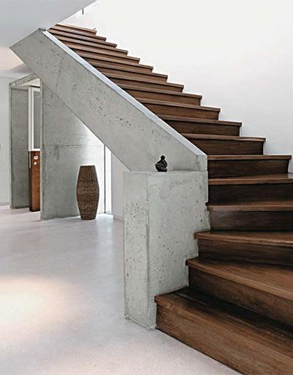 Modelos de escadas residenciais de madeira - Modelos de escaleras para casas pequenas ...