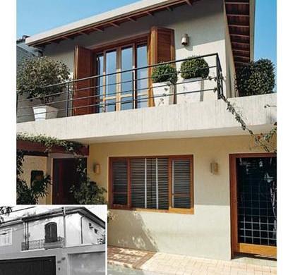 Decora o e projetos fachadas de casas antigas reformadas com fotos - Reformas en casas pequenas ...