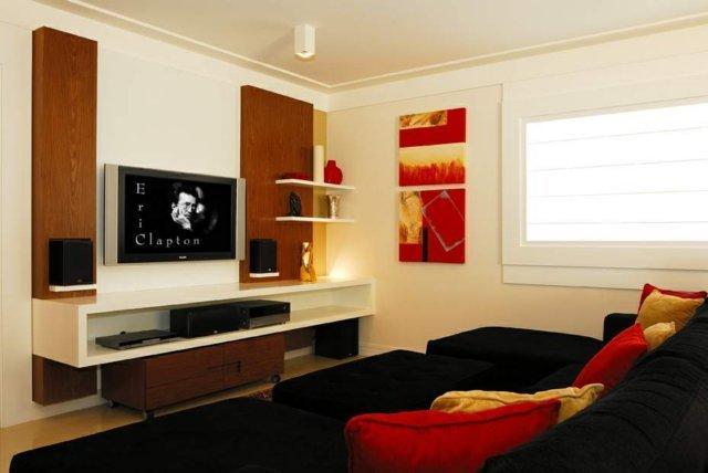 Almofadas Para Sala De Tv ~ Decoração e Projetos FOTOS DE DECORAÇÃO DE SALA DE TV