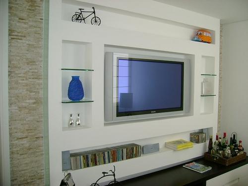 Sala De Tv Decorada Fotos ~ Decoração e Projetos FOTOS DE DECORAÇÃO DE SALA DE TV
