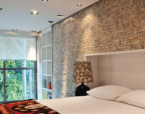 Revestimento Parede Interna Quarto ~ Decora??o e Projetos ? Fotos de paredes decoradas com pedras
