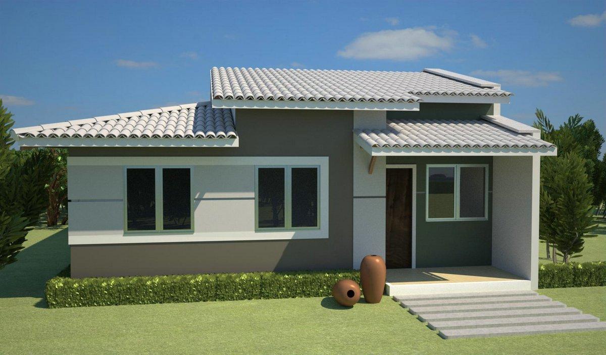Decora o e projetos plantas de casas com 3 quartos e 2 for Casas 1 planta