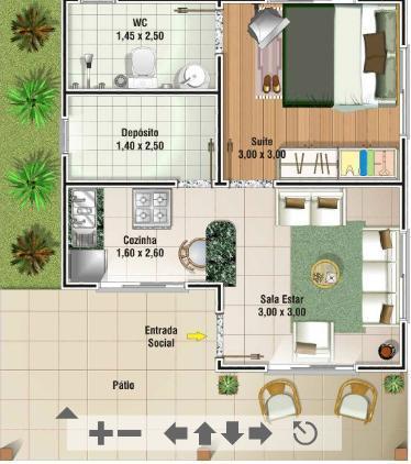 Decora o e projetos plantas de casas de at 70 m2 for Casas modernas de 70m2