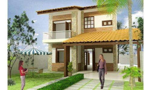Decora o e projetos projetos de casas com rea de lazer for Jardines para frentes de casas pequenas