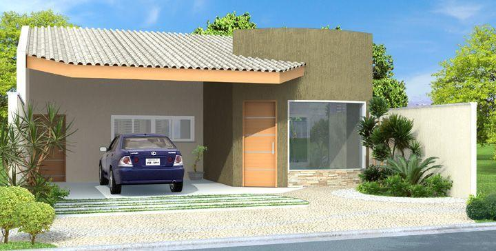Decora o e projetos projetos de casa em 3d gr tis for Fachadas de casas modernas de 2 quartos
