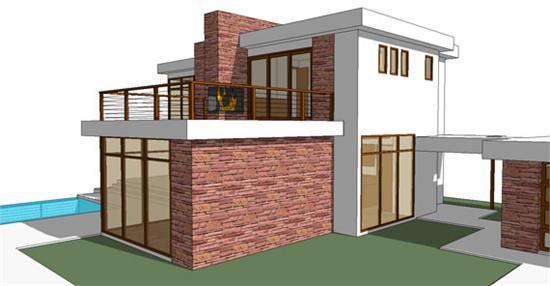 Decora o e projetos projetos de casas modernas em 3d com for Casa moderna jardin d el menzah