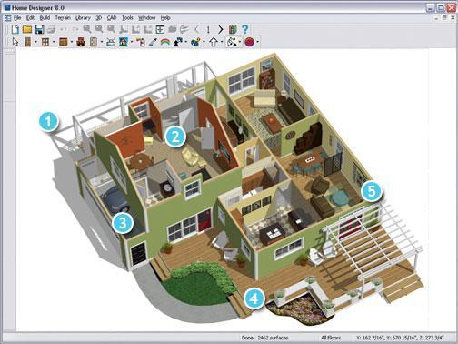 Projetos de casas modernas em 3d com fotos for Interior design computer programs free