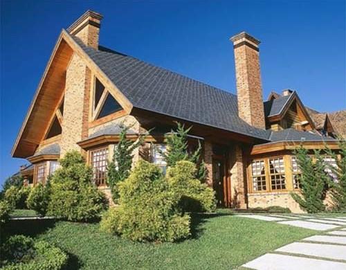 Decora o e projetos fachadas de casas com telhado colonial for Fachadas de casas estilo moderno