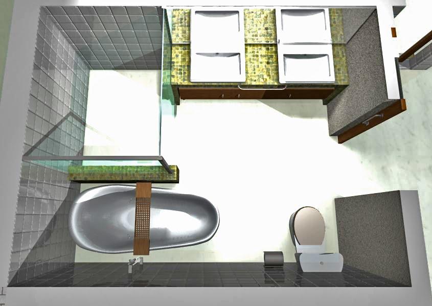 Decoração e Projetos PROJETOS DE BANHEIROS PEQUENOS COM BANHEIRA -> Banheiro Pequeno Com Banheira Projeto