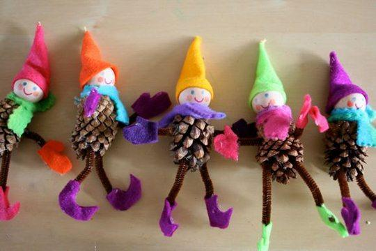 Pine Cone Elf Craft