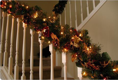 Decoração de escadas para o Natal 3