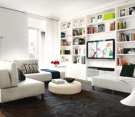 Decora o e projetos decora o de estantes para sala - Poner pladur en pared ...