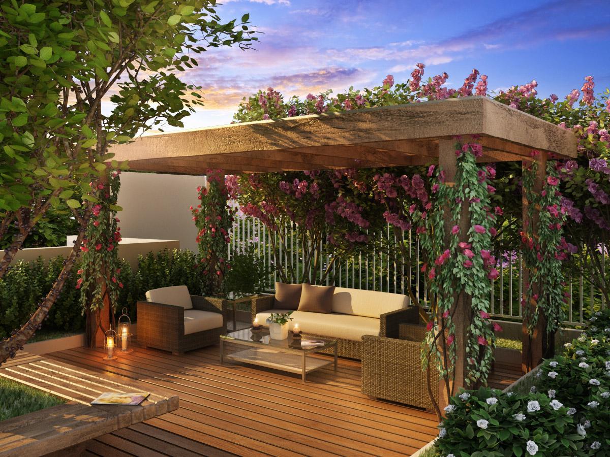 decora o e projetos decora o de pergolados com fotos. Black Bedroom Furniture Sets. Home Design Ideas