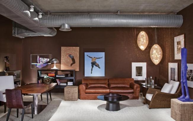 decoracao de sala sofa marrom:Decoração e Projetos – Decoração de salas com sofá marrom