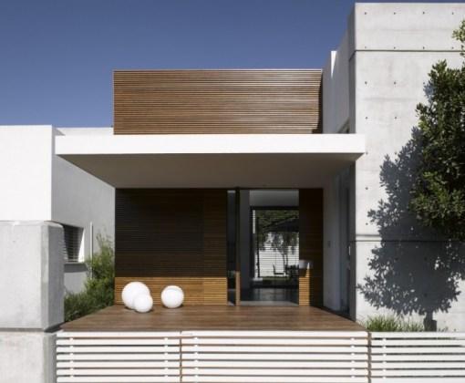 Fachadas de casas com madeira for Modelos de casas minimalistas