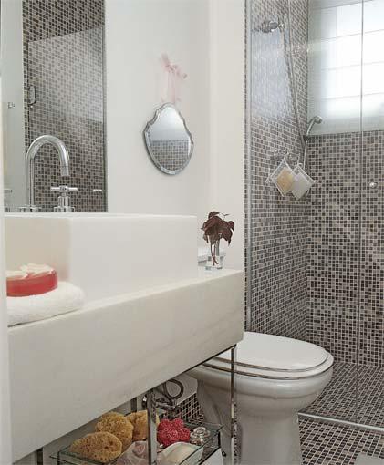 Decoração e Projetos FOTOS DE BANHEIROS COM PASTILHAS PRETAS -> Banheiros Decorados Pastilhas Pretas