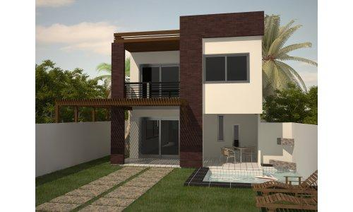 Fotos de casas bonitas e baratas para construir for Modelo de casa pequena para construir