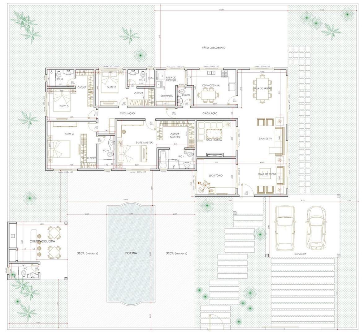 Casas Com Varanda 60 Modelos Projetos E Fotos: PLANTAS DE CASAS COM 4 QUARTOS E VARANDA