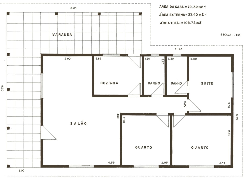 Decoração e Projetos – Plantas de casas com corredor grátis #3F3527 1483 1080