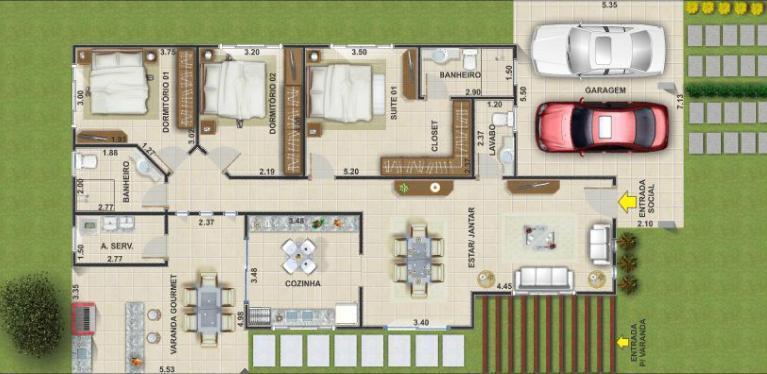 Decora 231 227 O E Projetos Projetos De Casas Com Garagem Para 2
