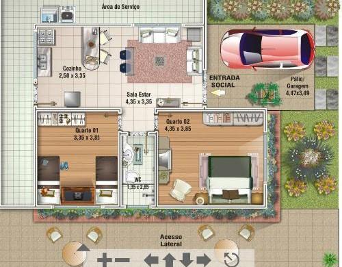 Decora o e projetos projetos de casas de at 100 m2 for Casa moderna 80m2