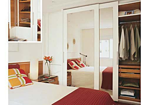 Projetos de guarda roupas de casal embutidos - Armarios para dormitorios pequenos ...