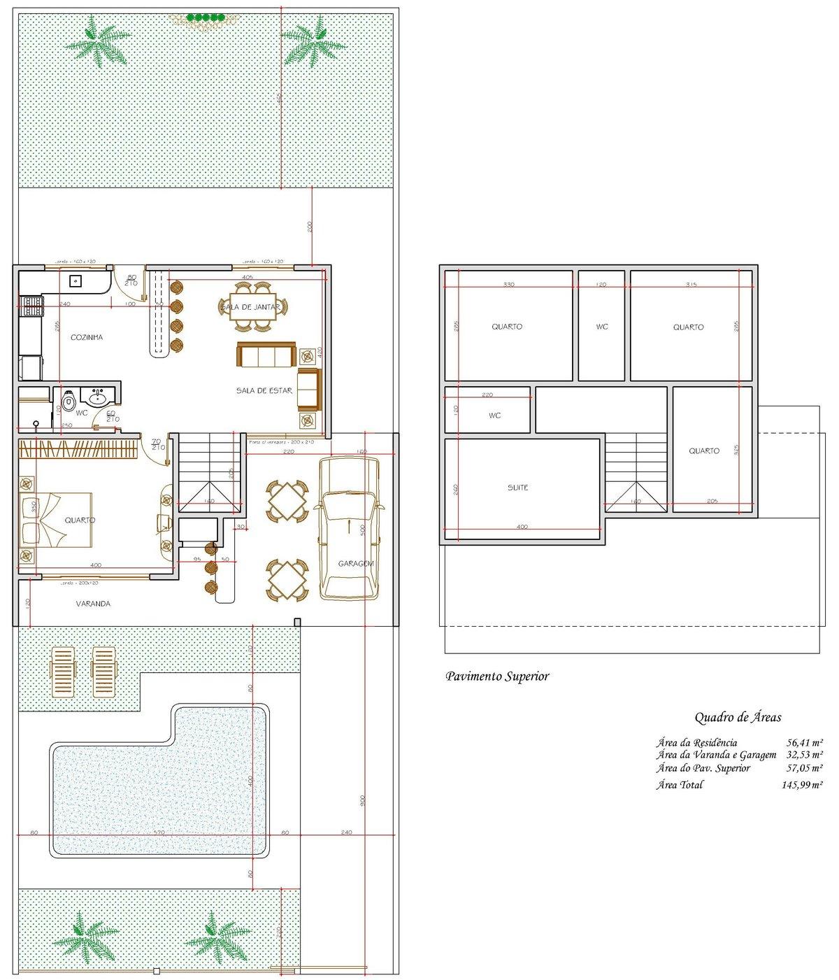 Decoração e Projetos – Projetos de sobrados com 4 quartos grátis #825018 1200 1401