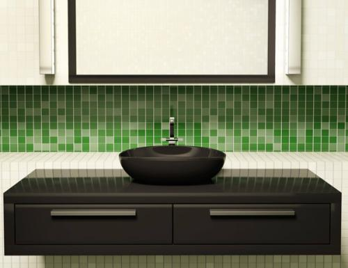 Decoração e Projetos BANHEIROS DECORADOS COM PASTILHAS VERDES -> Banheiro Decorado Com Pastilhas Verdes