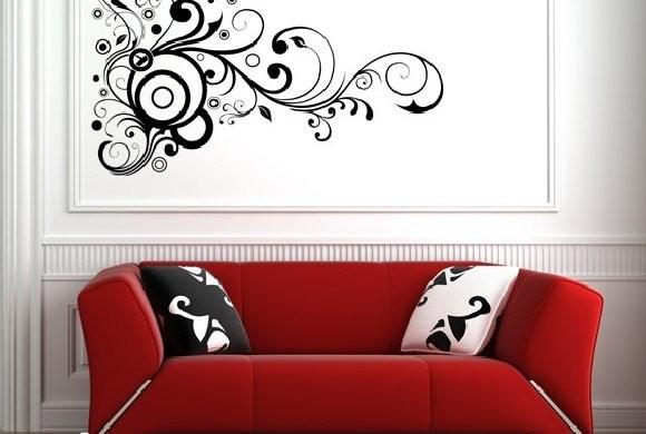 Decora o e projetos como decorar uma sala com sof vermelho - Decoracion de interiores con vinilos decorativos ...