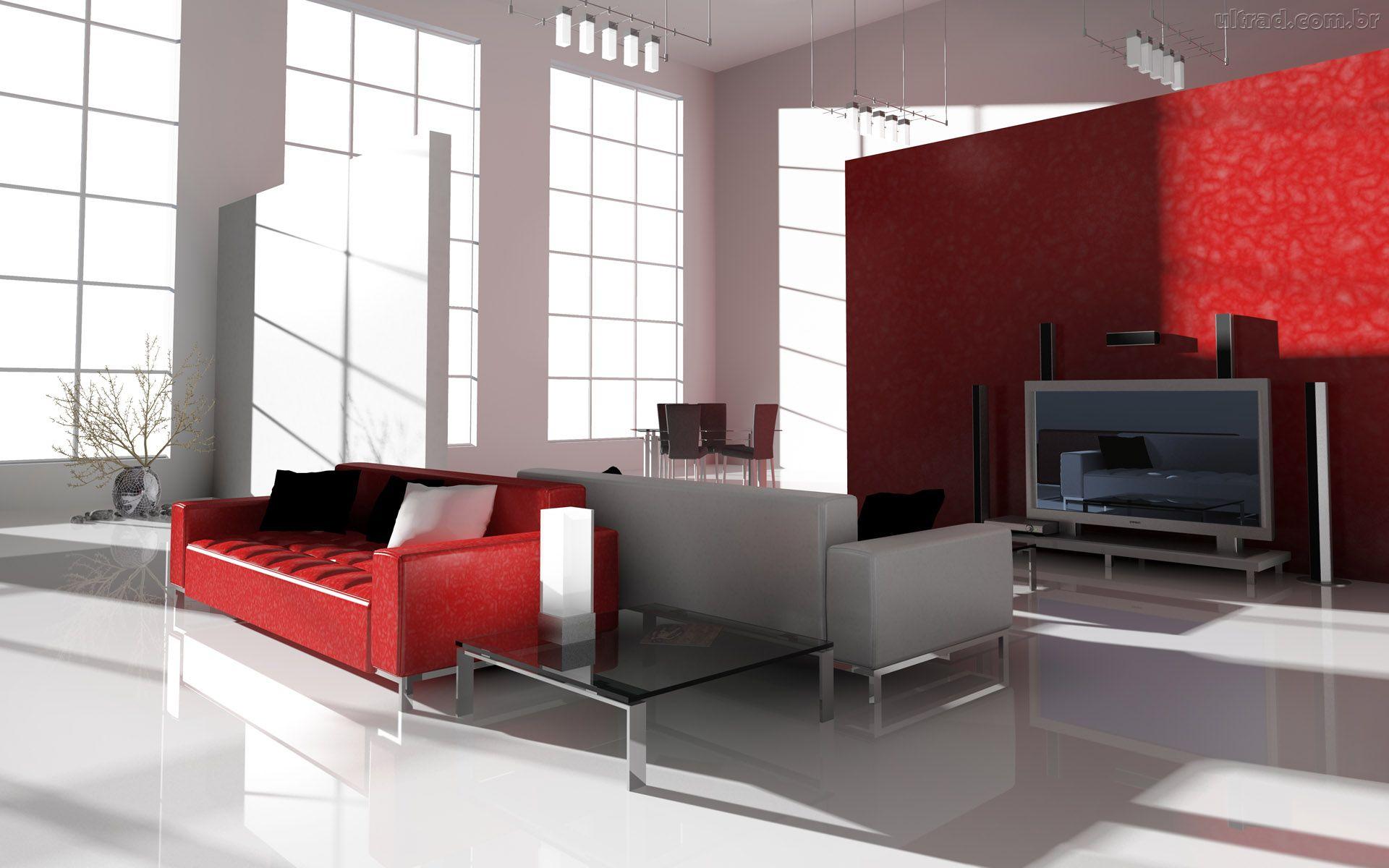 #A22929 Decoração e Projetos COMO DECORAR UMA SALA COM SOFÁ VERMELHO 1920x1200 píxeis em Como Decorar Uma Sala De Tv