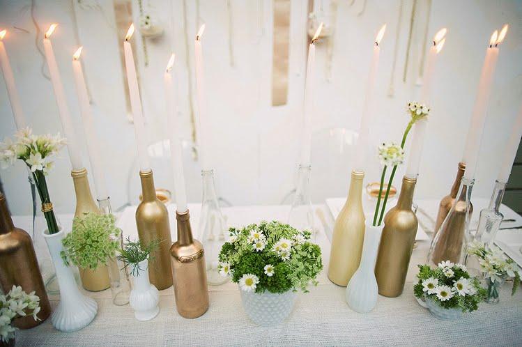 decoracao casamento garrafas de vidro:Decoração e Projetos – Decoração com garrafas de vidro