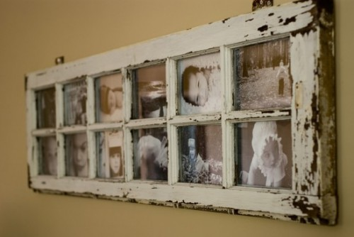 DIY Old Windows as Picture Frames