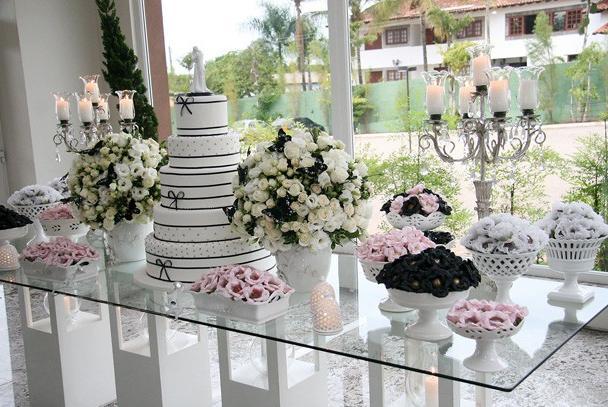 Decoração e Projetos – Decoração de casamento preto e rosa