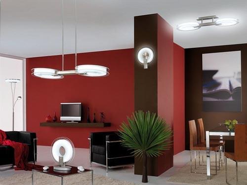 Decora o e projetos decora o de salas com parede vermelha - Como pintar mi piso moderno ...