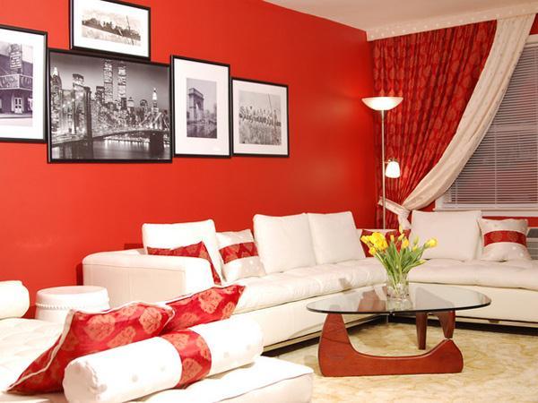 Decoracao De Sala Vermelha ~ Decoração e Projetos – Decoração de salas com parede vermelha