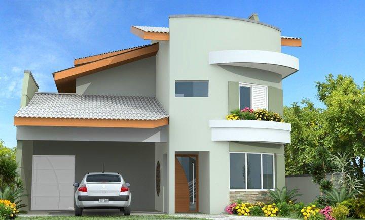 Decora o e projetos fachadas de sobrados com varanda for Fachadas de viviendas pequenas
