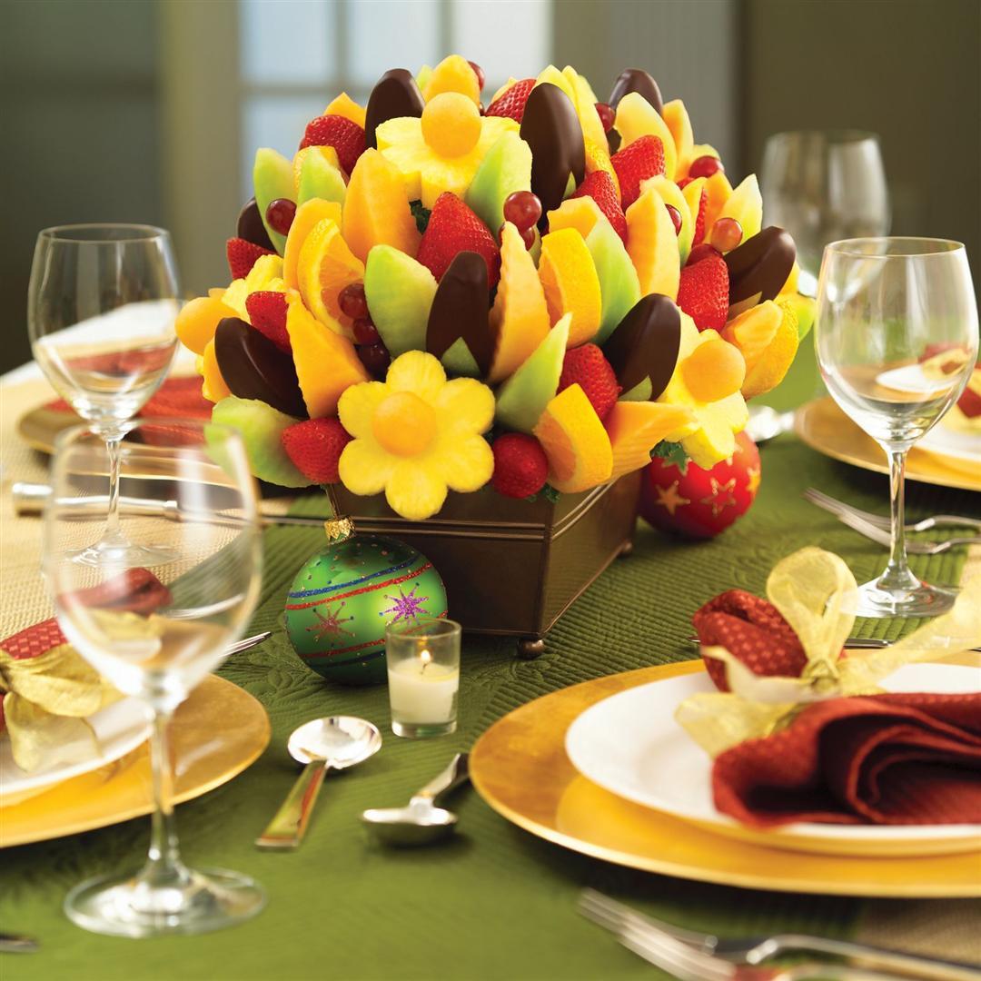 Decoraç u00e3o e Projetos FOTOS DE DECORA u00c7ÃO DE NATAL COM FR -> Como Decorar Frutas Para Ano Novo