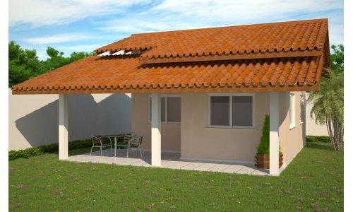 Decora o e projetos plantas de casas com fachadas gr tis for Casa de una planta rustica