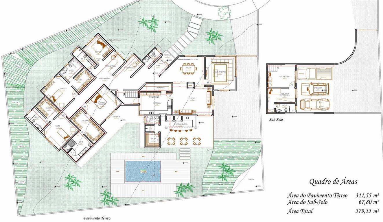 Decoração e Projetos – Plantas de casas com suíte e closet #864208 1324 768