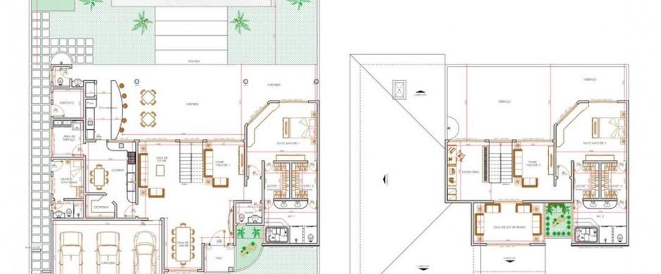 Decora o e projetos plantas de casas com su te e closet - Plantas para casas ...