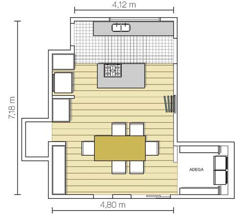 Decoração e Projetos – Projetos de casas com cozinhas grandes