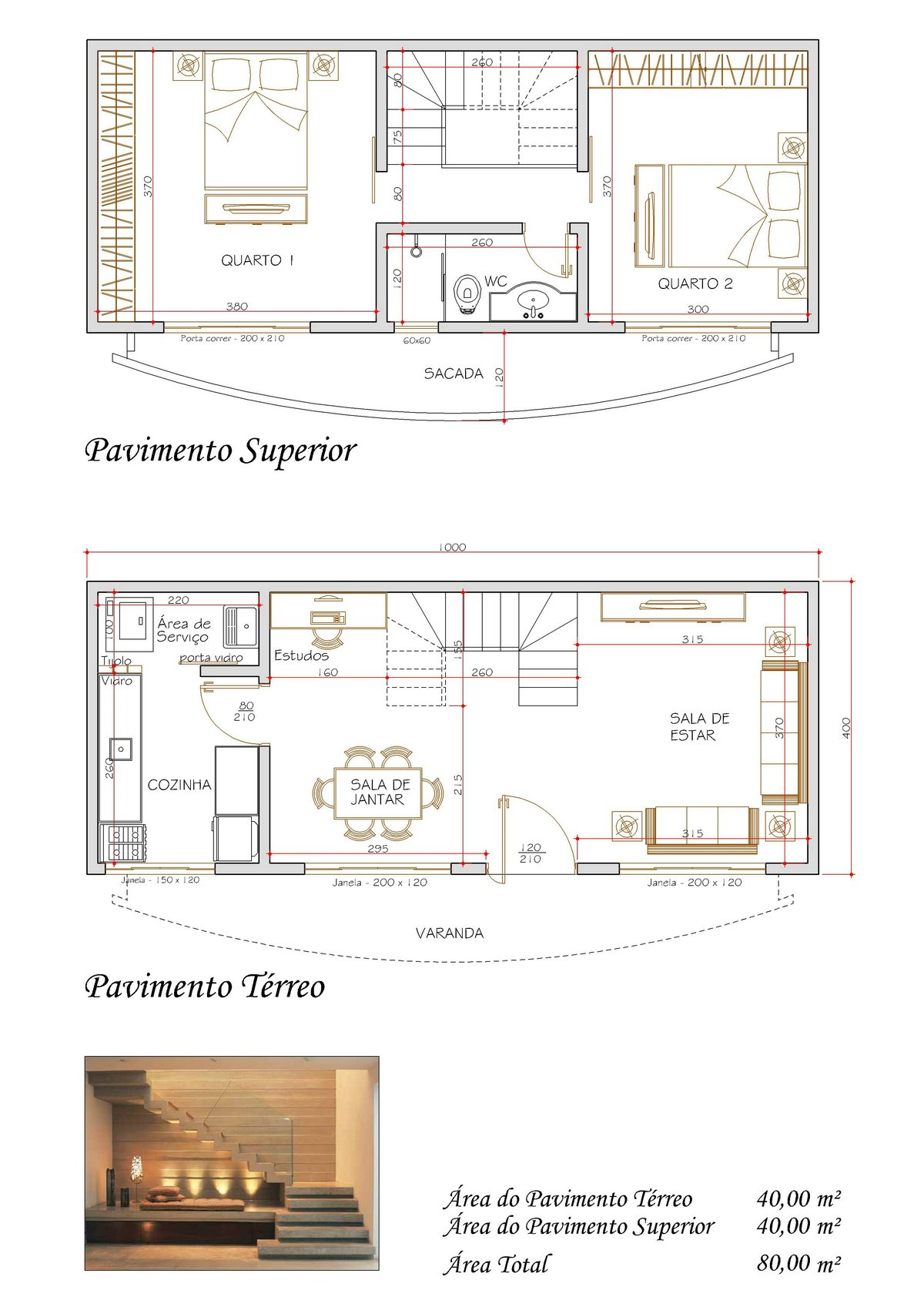 Decoração e Projetos – Projetos de sobrados com 2 quartos #91613A 1200 1697